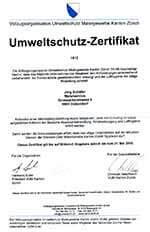 Umweltschutz-Zertifikat-Maler