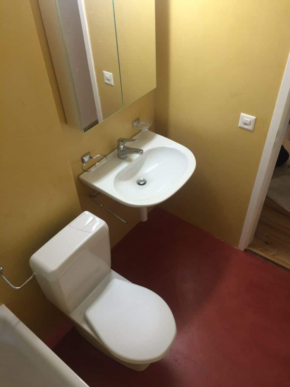 Beton Ciré farbig (Gewachster Beton) ideal fürs Bad