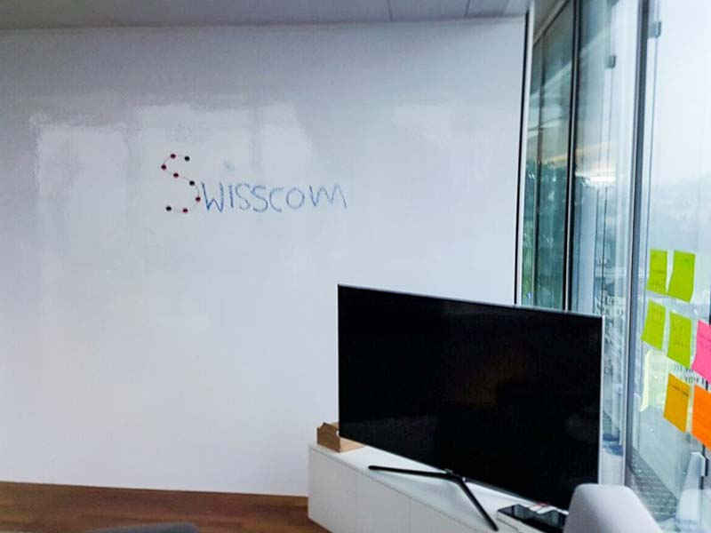 Magnetische Whiteboard Beschichtung: Swisscom