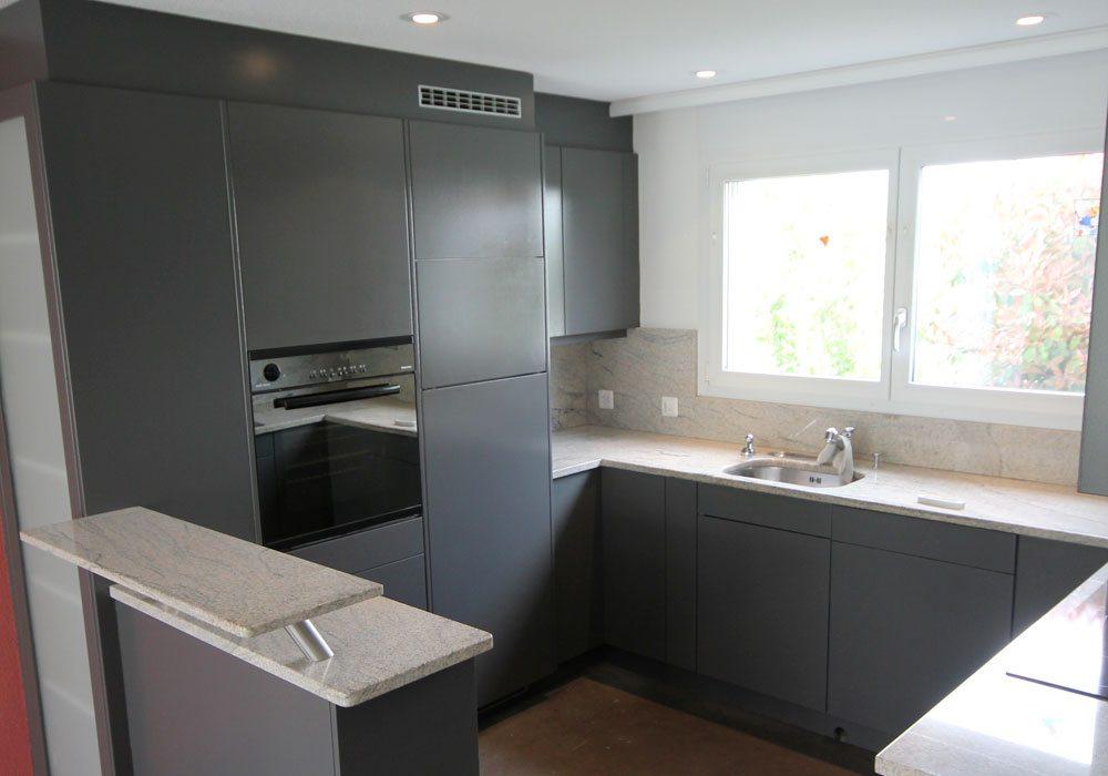 Küche renovieren: Fronten spritzen und lackieren 1 neu