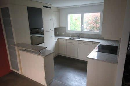 Küche renovieren: Fronten spritzen und lackieren 5 alt