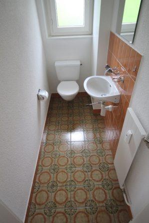 Badezimmer renovieren: WC alt