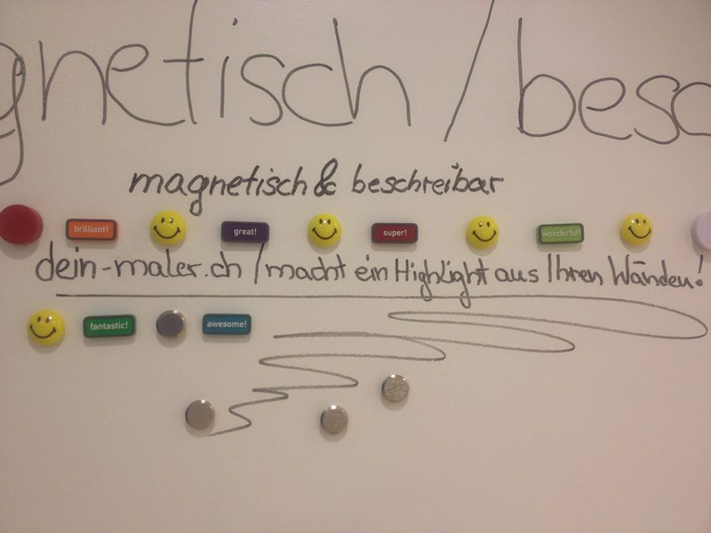 Magnetische Whiteboard Beschichtung: magnetisch und beschreibbar