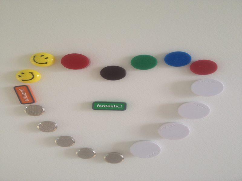 Magnetische Whiteboard Beschichtung: mit Herz