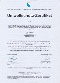 umweltschutz zertifikat 2018
