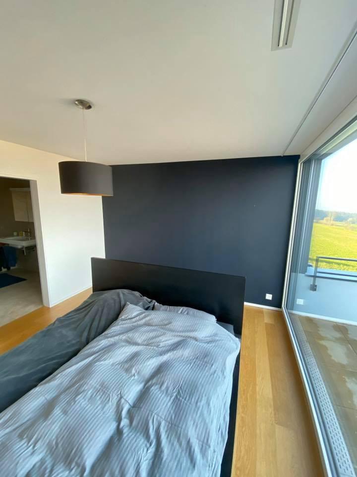 Dein Maler Zürich Referenzen - Farbton-Impressionen für ein gmütlich's Dihei Schlafzimmer