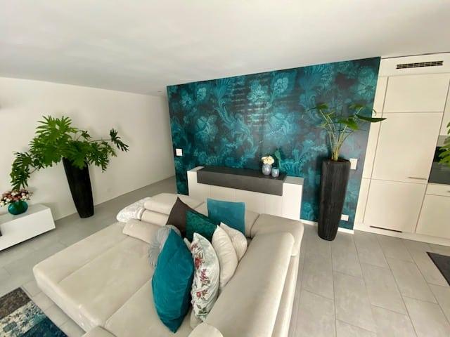 Tapete Wohnzimmer - Dein Maler Zürich