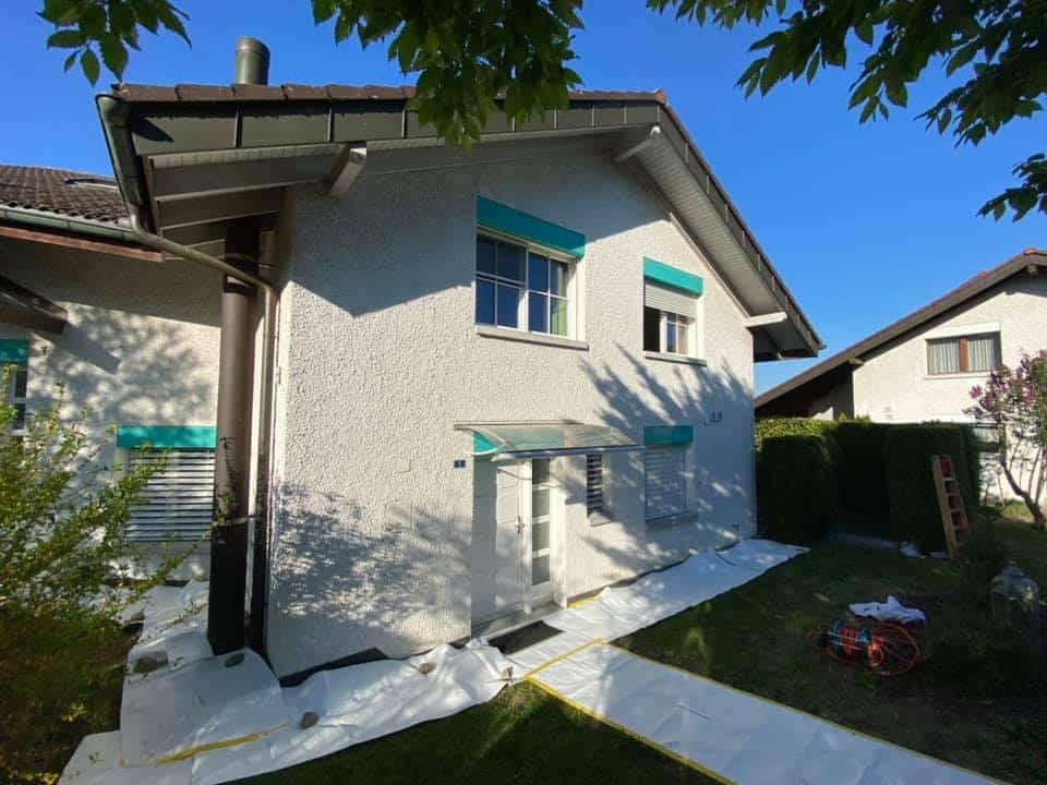 Fassade renovieren mit Silikatfarbe - neue Fassade